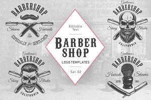 Barbershop logos set