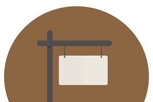 Illustration of blank sign vector