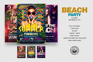 Beach Party Flyer Bundle V4