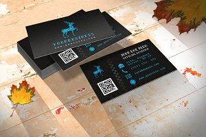 Retro Business Card/ Pixel & Wild