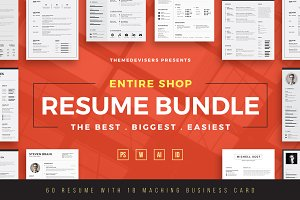 ENTIRE SHOP !! Resume/CV Bundle