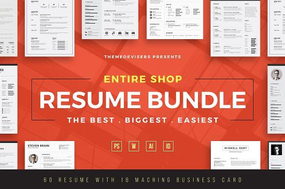 ENTIRE SHOP Resume CV Bundle