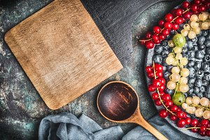 Colorful berries recipes layout