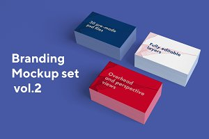 Branding mockup set 30 psd vol.2