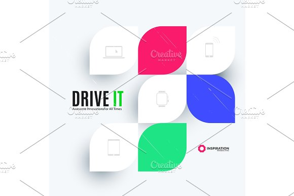 Creative Design Of Abstract Vector Design Elements For Graphic Template