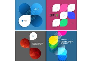 Set of modern design abstract templates.