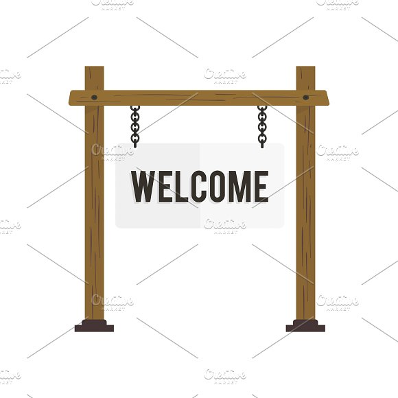 Illustration Of Welcome Sign Vector