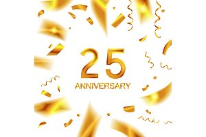 25th gold anniversary celebration