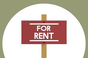 Illustration of estate rental sign