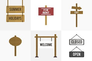 Illustration of signs vector set