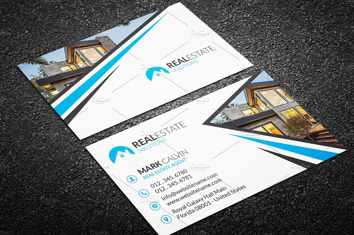 Real estate business card 38 business card templates creative market wajeb Choice Image