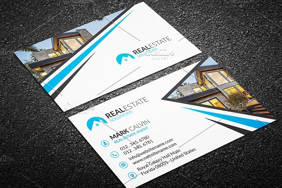 Real Estate Business Card Business Card Templates Creative - Real estate business cards templates free