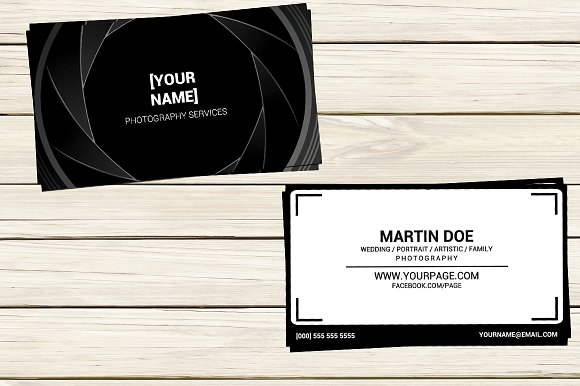 Photographer Business Card Template Business Card Templates