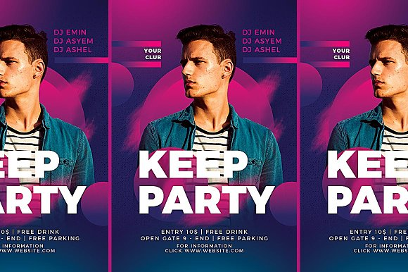 Dj Club Party Flyer Templates