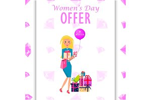 Womens Day Offer Promotion Poster Illustration