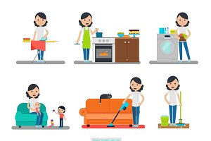 Home Cleaning Flat Collection