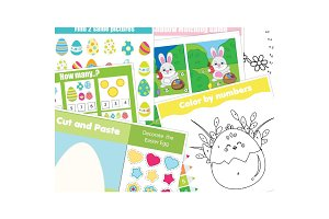 Easter kids activity Education games