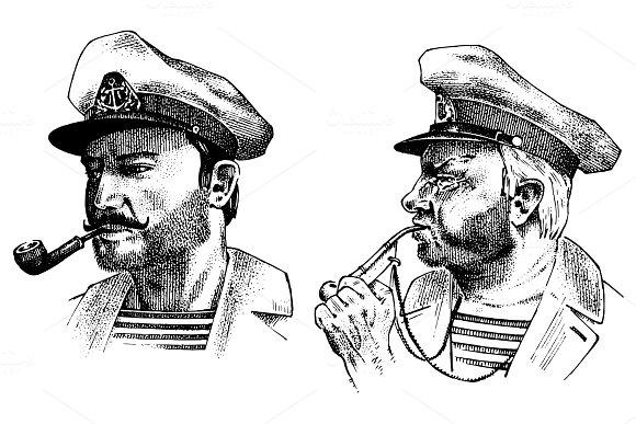 Vintage Portrait Of A Sea Captain