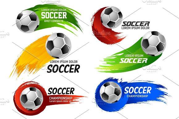 Vector Soccer Football Ball Sport Game Emblems