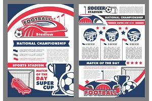 Vector poster for soccer football championship