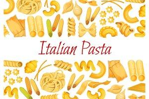 Vector Italian pasta restaurant poster