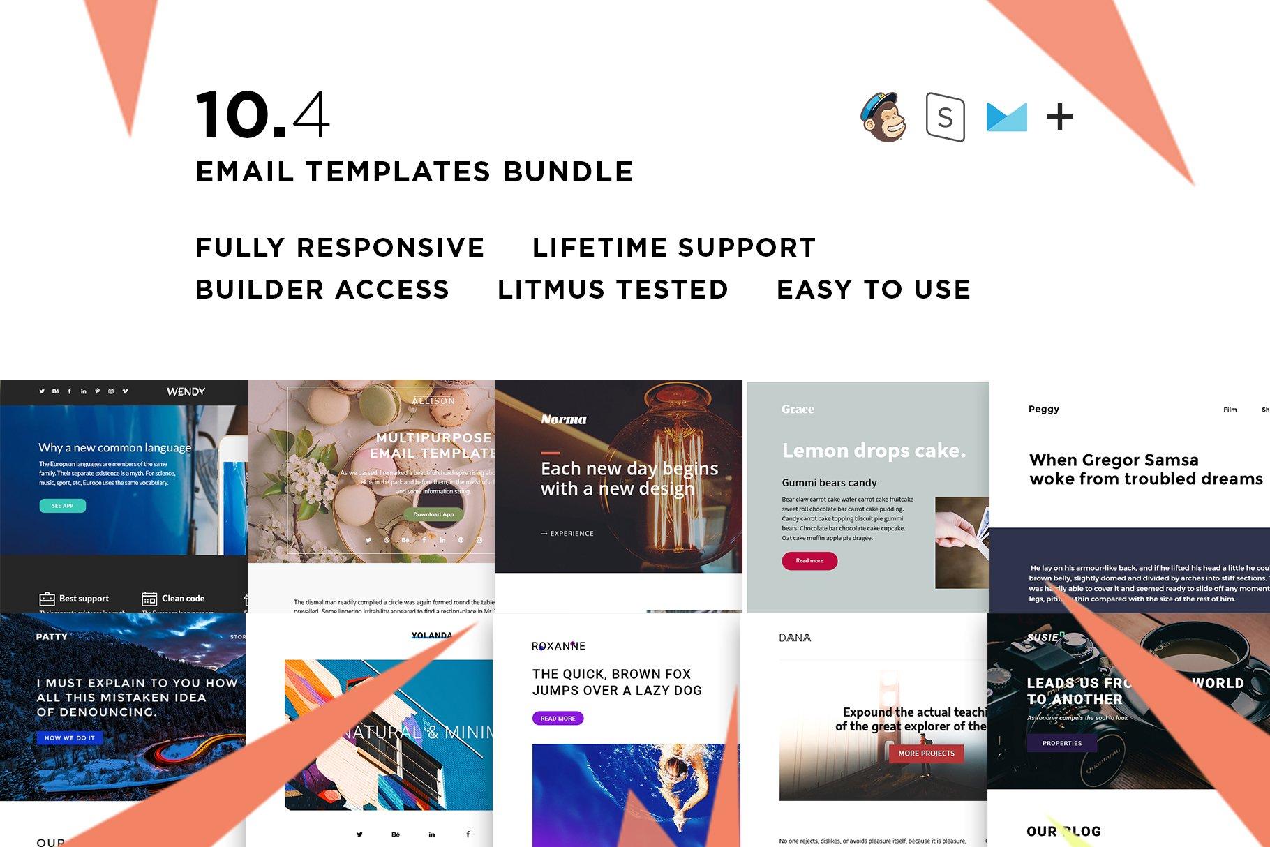 10 Email templates bundle IV ~ Email Templates ~ Creative Market