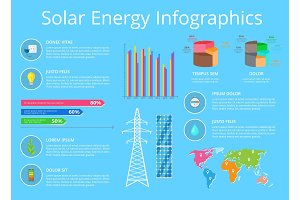 Solar Energy Infographic, Vector Illustration