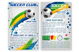 Vector soccer team club football poster template