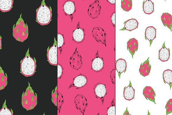 Dragon Fruit in Patterns