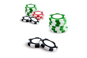 Casino and poker gambling chips