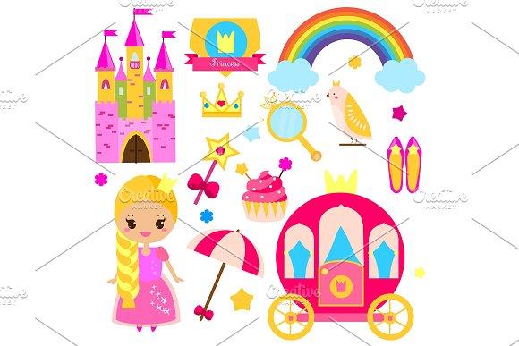 Princess World Stickers Icons