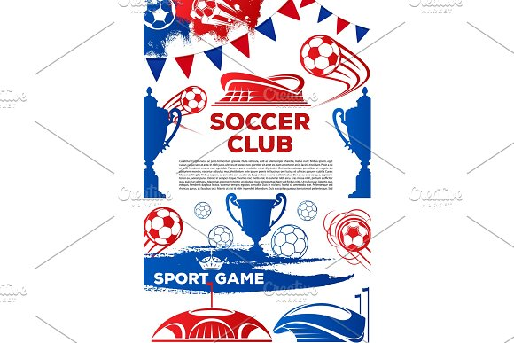 Vector Soccer Club Football Game Poster