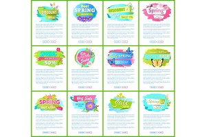 Spring Big Sale -50% Off Advertisement Label Tulip