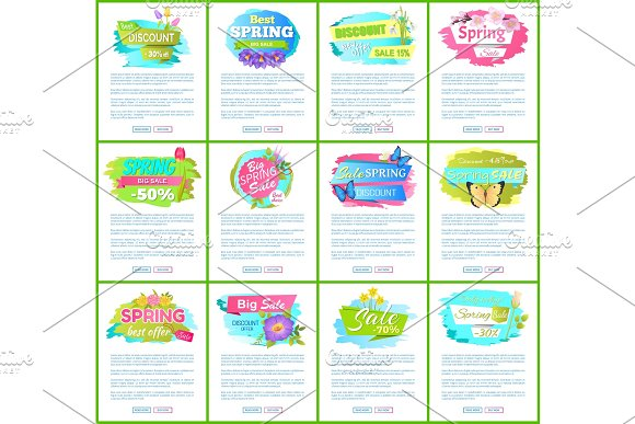 Spring Big Sale 50% Off Advertisement Label Tulip