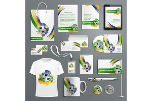 Advertising soccer football cup vector materials