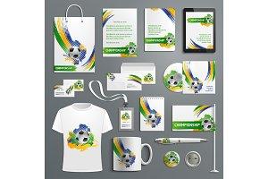 Advertising soccer football cup vector materials
