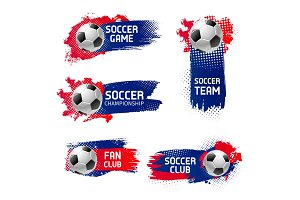 Vector soccer football sport game emblems