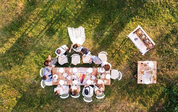Wedding Reception Outside In The Backyard