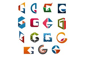 G letter vector icons template company brand name