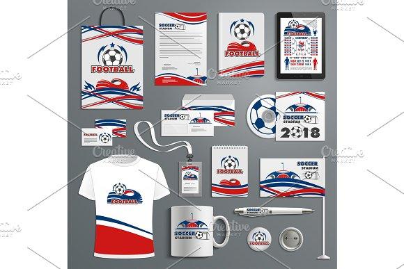 Vector Soccer Football Game Vector Promo Materials