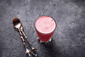 Beetroot super latte. Detox drink