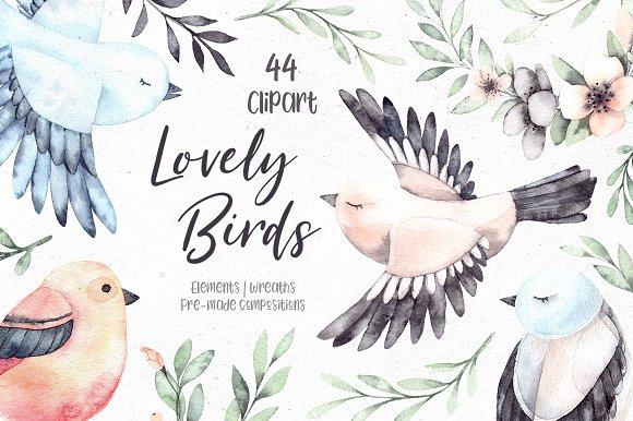 Lovely Birds Watercolor Set