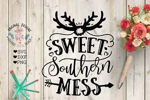 Sweet Southern Mess  Cut File