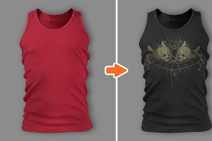 Men's Tank Top Templates Pack