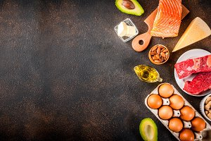 Ketogenic low carbs diet ingredients