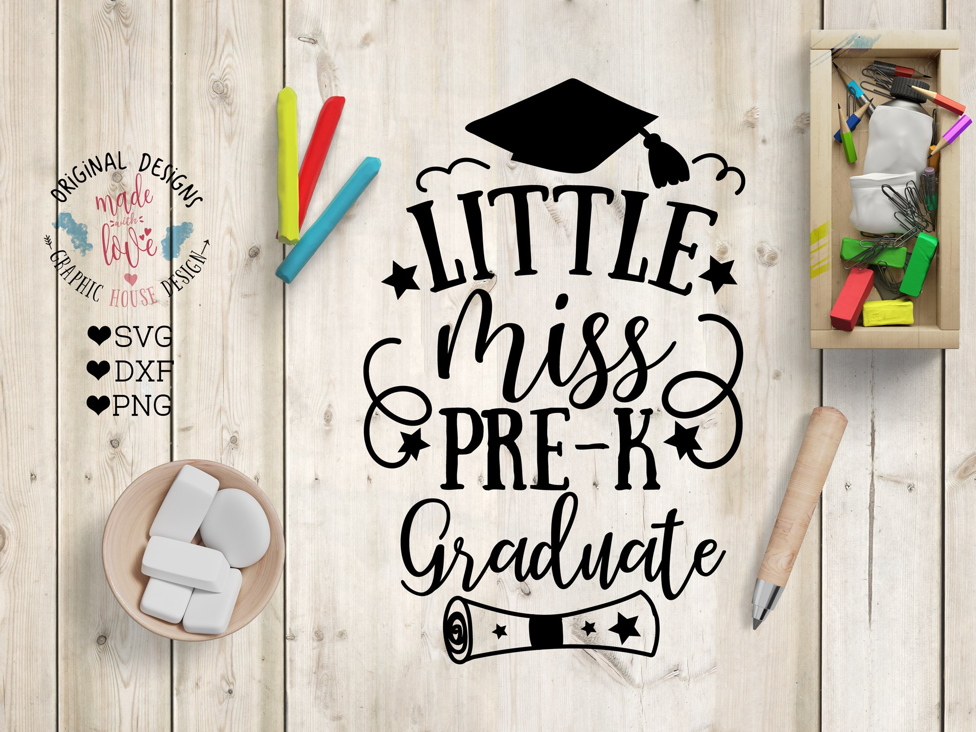 Little Miss Pre K Graduate Pre Designed Photoshop Graphics Creative Market