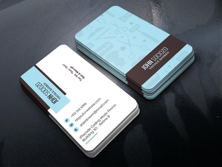 Barber Business Card ~ Business Card Templates ~ Creative Market