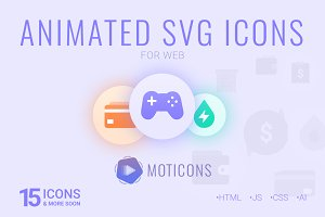 MOTICONS - Animated SVG web icons