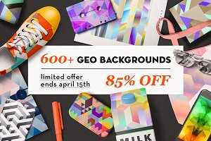 600+ Geometric Backgrounds Bundle