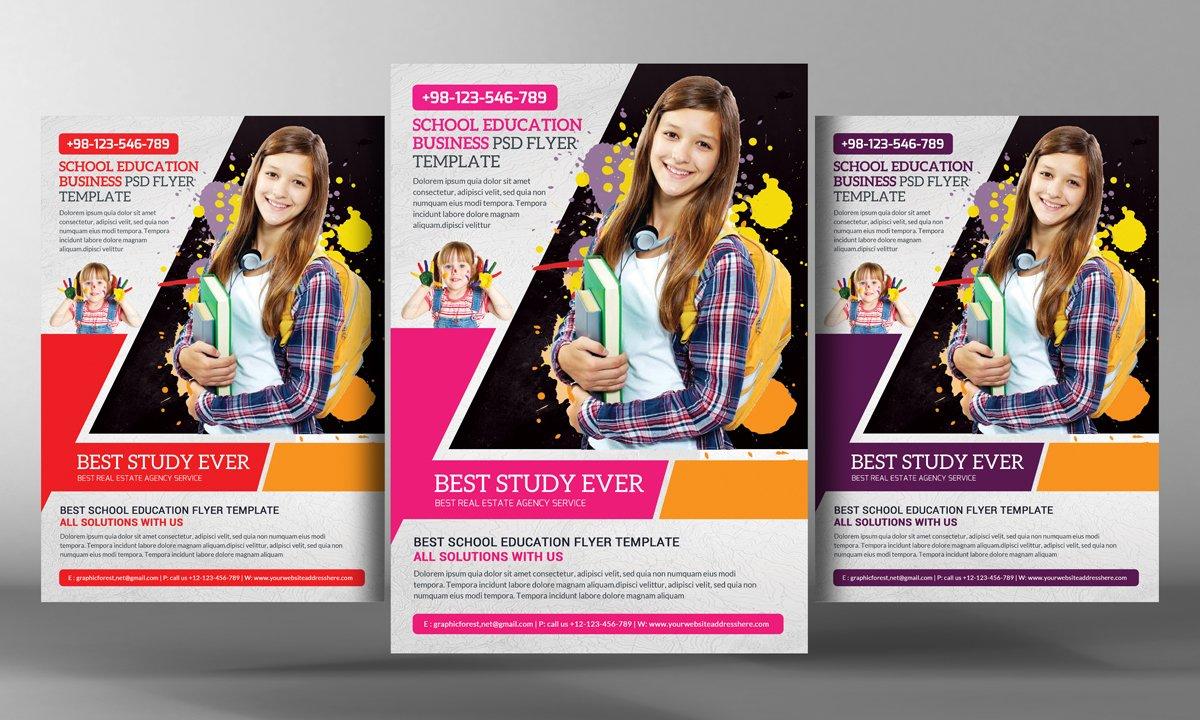 school education flyer template flyer templates creative market